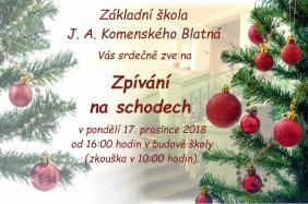 Zpívání na schodech - 17. prosince 2018