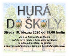 Plakát HURÁ DO ŠKOLY